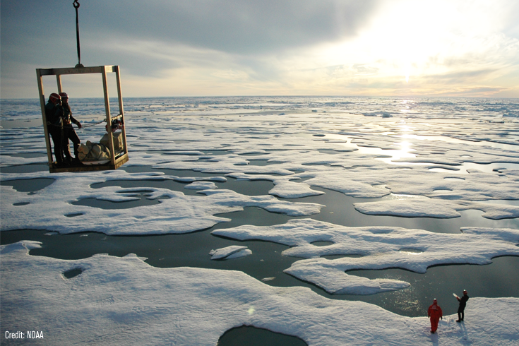 Workers in the Arctic