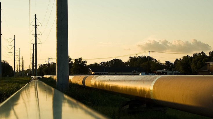 oil pipeline in Texas