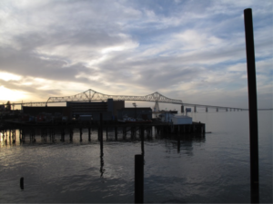 A waterfront view of Astoria, Oregon